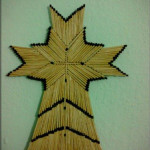 Cross with Matchsticks -SOLD