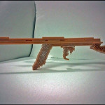 GUN made of straws - SOLD